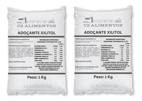 Xilitol Adoçante Xylitol 2kg Pronta Entrega Original + Laudo