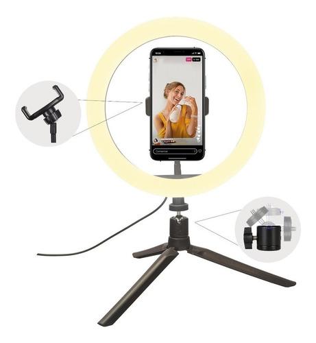 Ring Light Iluminador 10 Polegadas + Tripé /suporte Celular