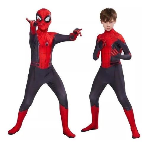Fantasia Homem Aranha Longe De Casa Infantil Spider Cosplay