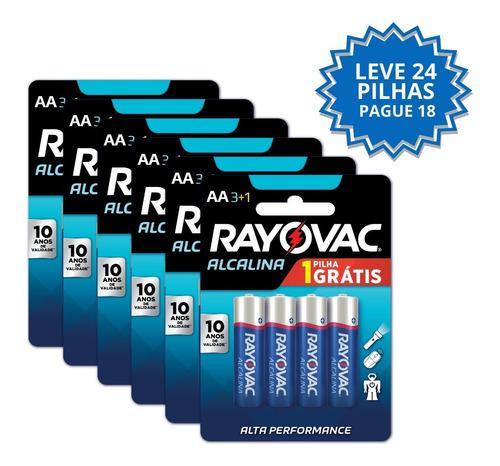 Leve 24 Pague 18 Pilhas Alcalinas Rayovac Pequena Aa