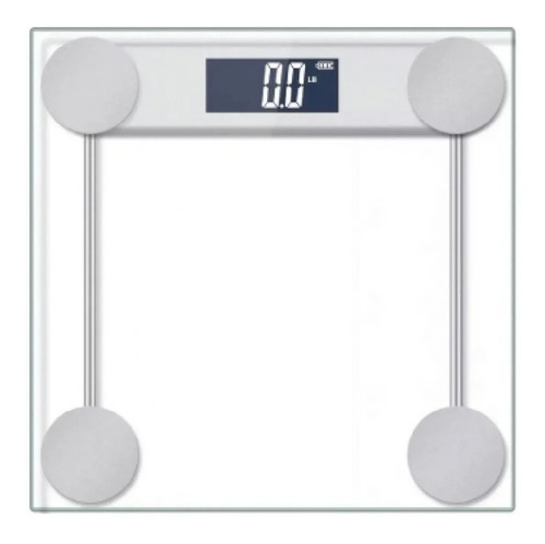 Balanza De Baño Digital Kjh-p2004 Kanji Vidrio 180kg Blanca