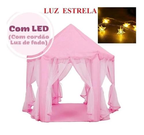 Barraca Infantil Cabana Tenda Iluminada + Fio Luz Led Pilha