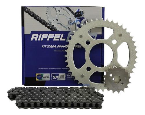 Kit Relação Riffel Titan 160 Fan 150 Start Cg 150 Aço 1045