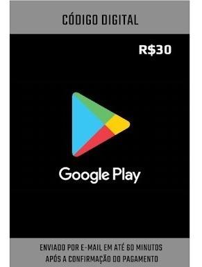 Vale Presente Digital Google Play - 30r$