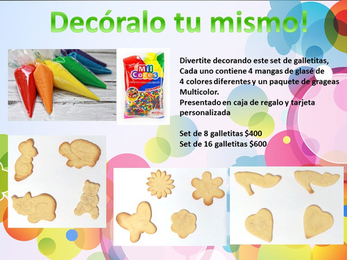 Promo Día Del Niño! Galletitas Para Decorar Tu Mismo