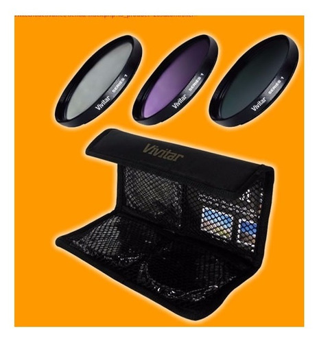 Kit De 3 Filtros (uv, Fld Y Cpl) 40.5 52 55 62 67 72