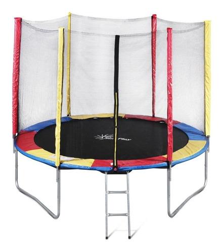 Cama Elastica Trampolim 10ft Colorida 3 Pernas Escada Com