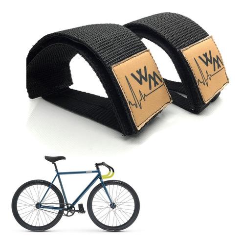Firma Pé Strap Bike Fixed Gear Skid Correia Pedal Velcro Wm
