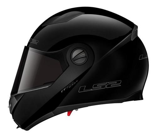 Casco Para Moto Rebatible Ls2 Easy Solid Gloss Black Talle S