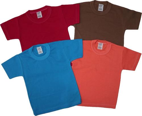 Kit 5 Camisetas Infantil Básica Lisa E Estamp Tam P Ao 8