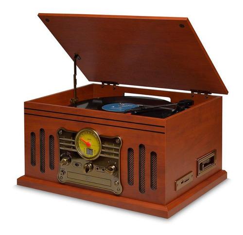 Vitrola Toca Discos Raveo Stadio Cd Bluetooth Gravação K7 Fm