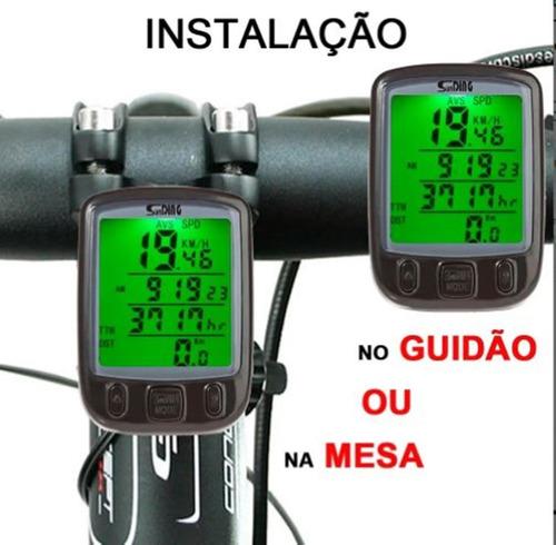 Velocímetro Ciclo Computer Bike Sensor Com Fio Luz Noturna 4