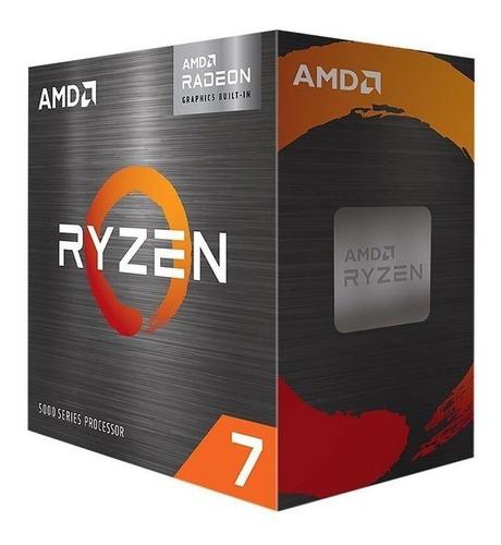 Procesador Amd Ryzen 7 5700g 100-100000263box De 8 Núcleos Y  4.6ghz De Frecuencia Con Gráfica Integrada