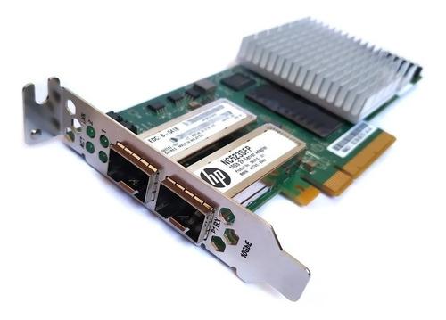 Rede De Dual Fibra Hp Nc523sfp+ 10gb 593715-001 Qle3242 To