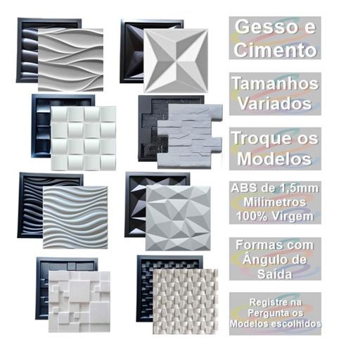 8 Formas De Gesso 3d E Cimento Abs 1,3mm Escolha Os Modelos