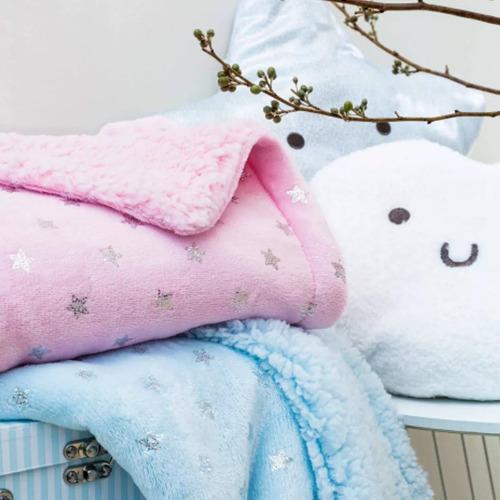 Manta Cobertor Fleece Infantil Para Bebe Estampada Enxoval
