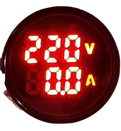 Voltimetro Amperimetro Digital Tablero Zurich 22mm 20-380vac