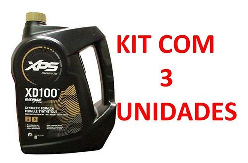 Óleo 2 Tempos Evinrude Etec Johnson Xd 100 - Kit 3 Unid.