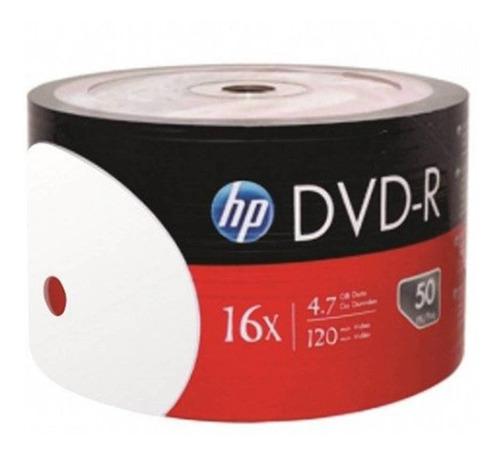 Bulk De 50 Dvd - R Hp Printables Para Grabar 4.7 Worldmaster