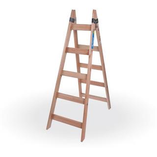 Escalera Pintor De Madera Reforzada 5 Escalones Prestigio
