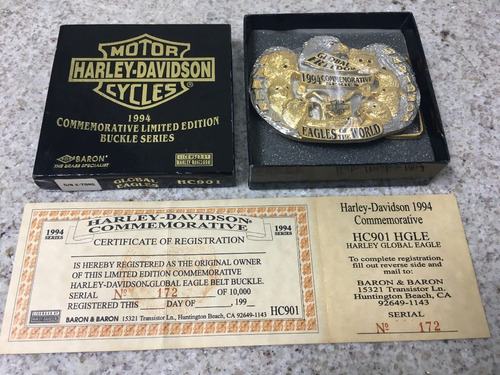Fivela Harley Davidson Comemorativa Original Joia Rara Novo