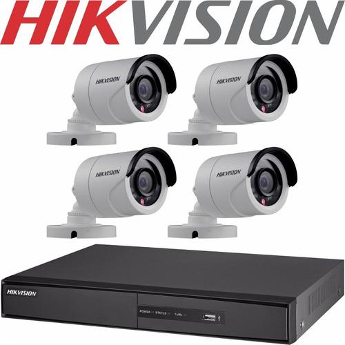 Kit Seguridad Hikvision 8 Ch+ 4 Camaras Exterior Infrarrojas
