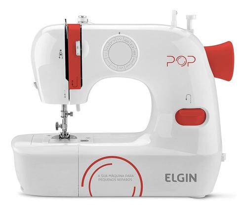Máquina De Costura Elgin Pop Bl-1009  Branca 127v/220v