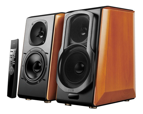 Bocina Edifier 2.0 S2000 Pro Con Bluetooth Madera Y Negra 100v/240v