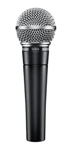 Micrófono Shure Sm Series Sm58 Dinámico Cardioide Y Unidireccional Negro