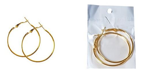 Brinco Argola Metal Bijuteria Prateada Dourada Atacado 12 Un