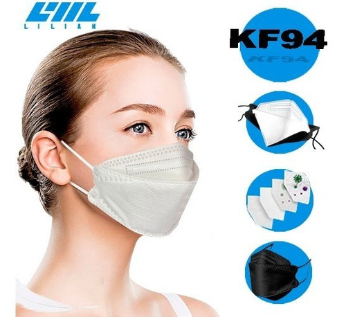 Kit 10 Máscaras Kn95 Proteção Respiratória Kf4  - Full