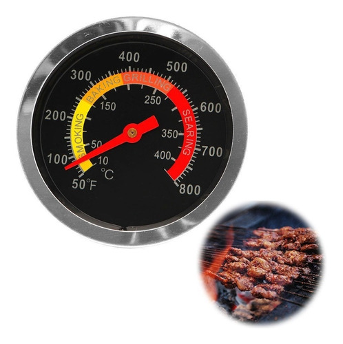 Termómetro Análogo Horno - Asador - Barbacoa (bbq) 800 °f.