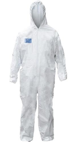 Macacão De Segurança Branco Com Capuz Proteção Química Vicsa