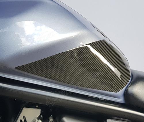 Protetor Tanque Lateral Relevo 3d Moto Suzuki Bandit 650 S N
