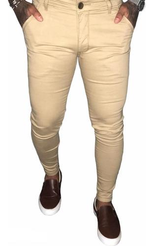 Calça Sarja Alfaiataria Skinny Elastano Masculina Premium