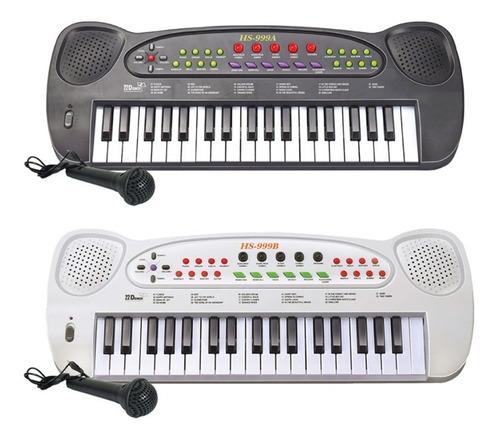 Teclado Musical Infantil Com Microfone Hs-999