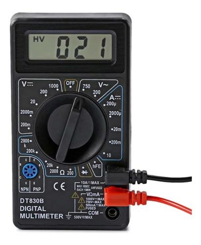 Multimetro Digital Tester Ldc Dt830b Negro