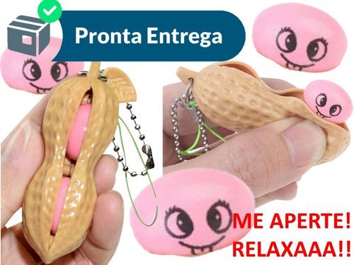 Pop It Fidget Toy Brinquedo Anti Stress Amendoim Chaveiro