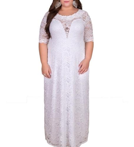 Vestido Noiva Plus Size Feito Sob. Medida, Vestido Longo Original