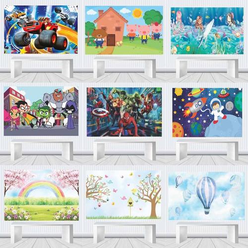 Painel Decorativo Festa Infantil 1,00 M X 0,65 Temas M.20b