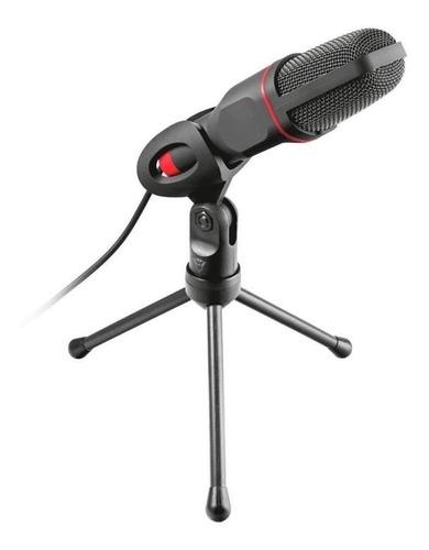 Microfone Trust Gxt 212 Mico 23791 Condensador  Omnidirecional Preto