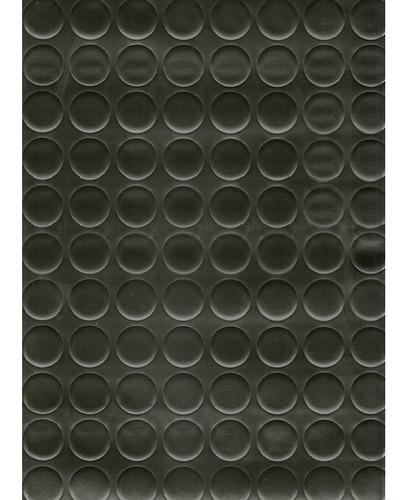 Piso Vinilico Unique Botones Negro Ancho 2m (precio X M2)
