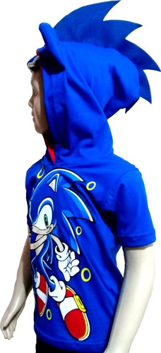 Camiseta  Sonic Infantil Camisa Fantasia Personagens