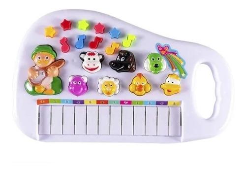 Piano Infantil Teclado Para Criança Com Som Dos Bicho