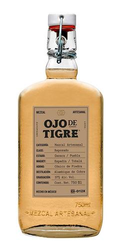 Mezcal Artesanal Reposado Joven Agave 750ml Ojo De Tigre