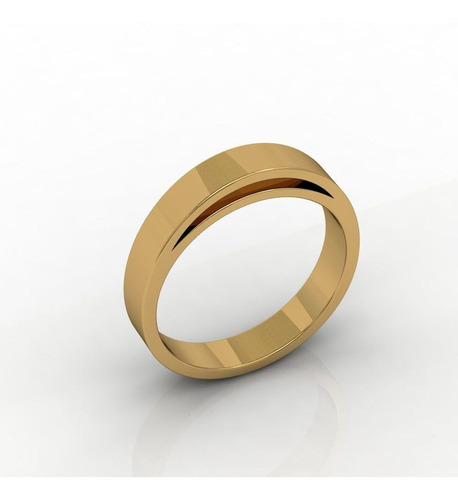 Aliança De Casamento Ouro Amarelo Cuore D'oro