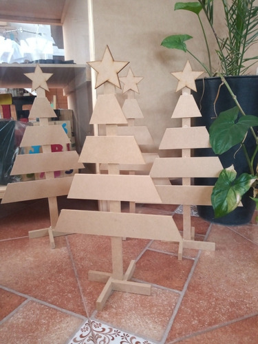 1 (uno) Pino/árbol De Fibrofácil De 50cm