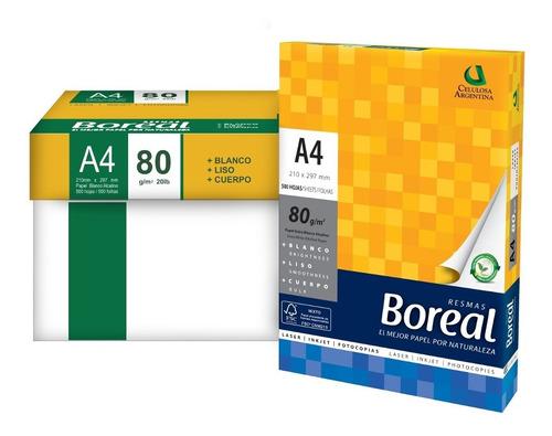 Kit 10 Resmas Boreal A4 80gr 21x29,7 Papel Blanco Alcalino
