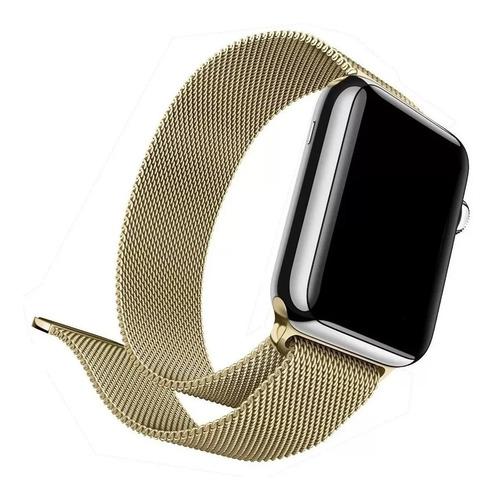 Pulseira Loop Aço Milanese Para Apple Watch E Iwo 42mm 44mm