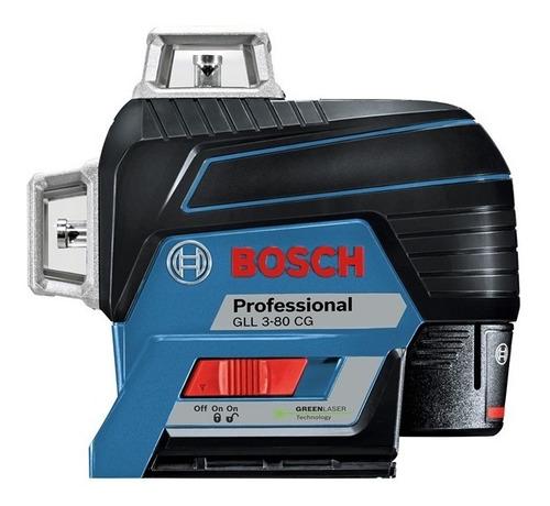Nivel Laser Verde Bosch Gll 3-80 Cg 360 Bluetooth + Receptor